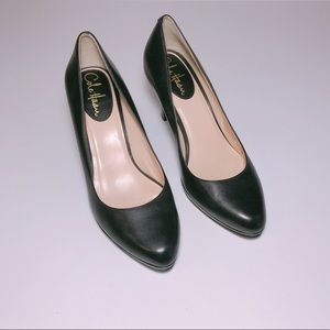 Cole Haan Nike Air Black Leather Heels Size 7.5